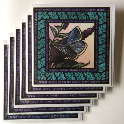 Rachel-Mulligan-6xGreetings Cards - Blue Butterfly