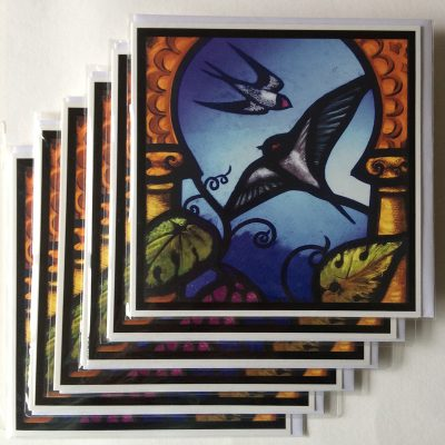Rachel-Mulligan-6xGreetings Cards - Swallows