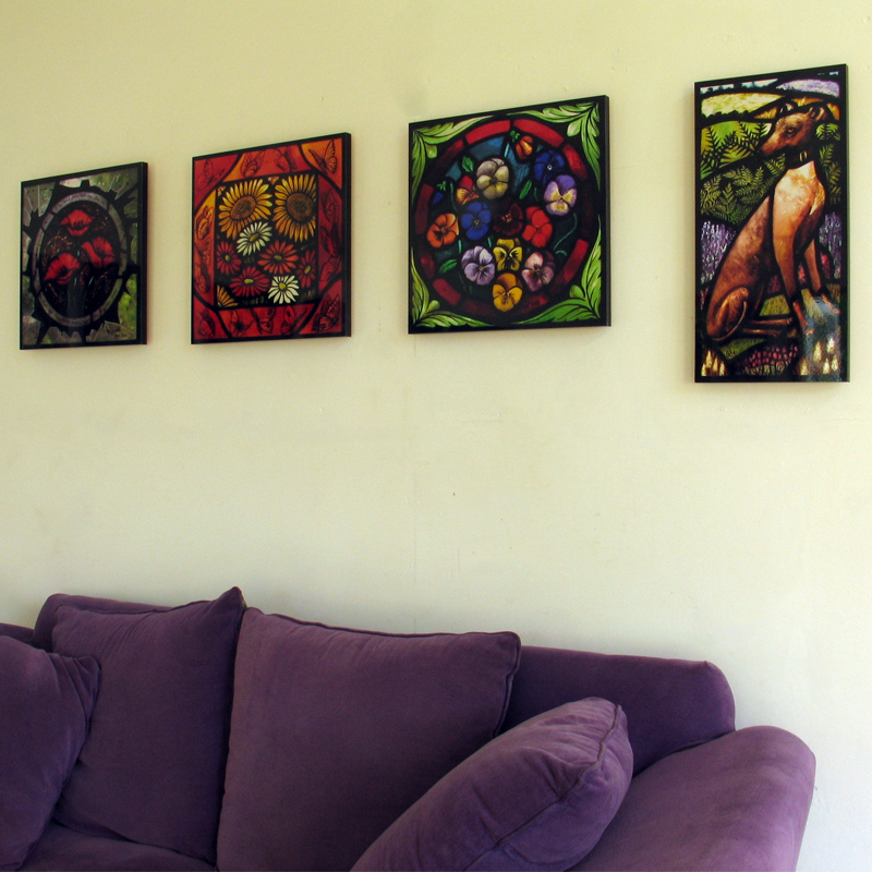 Stained glass artist Rachel Mulligan - Wall Photos