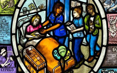 Nursing Life triptych for RCN