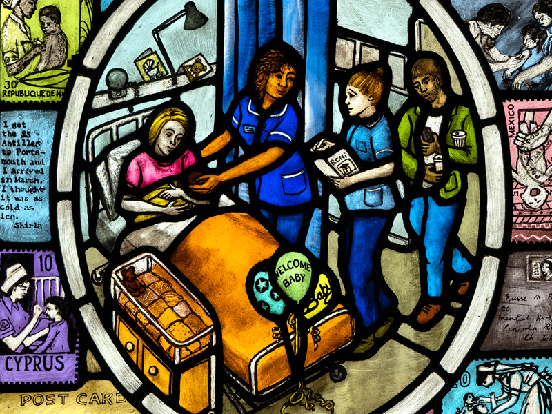Nursing Life triptych for RCN
